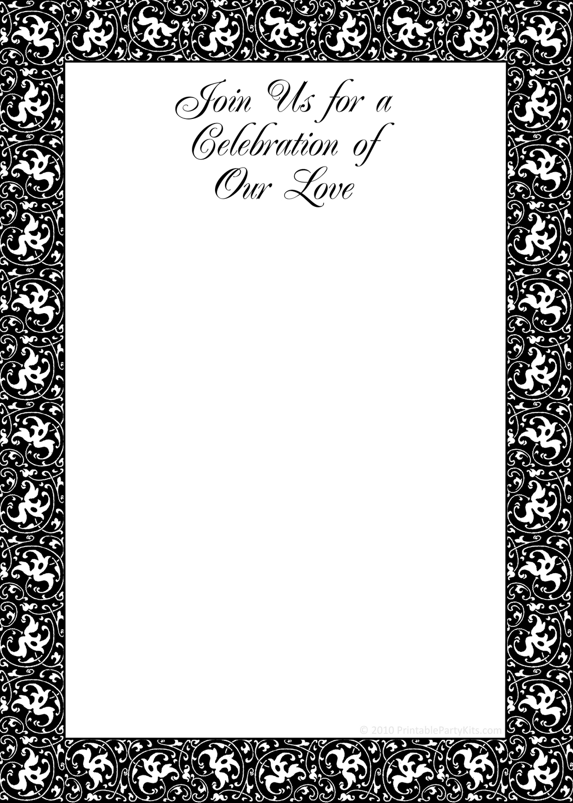 Free Party Invitation Elegant Template Halloween Printable - Halloween Invitations Free Printable Black And White