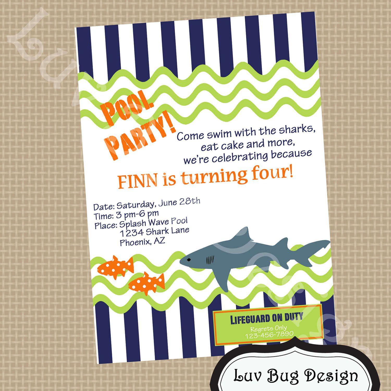 Free Party Invitation Templates   Free Printable Pool Party - Free Printable Pool Party Invitation Cards