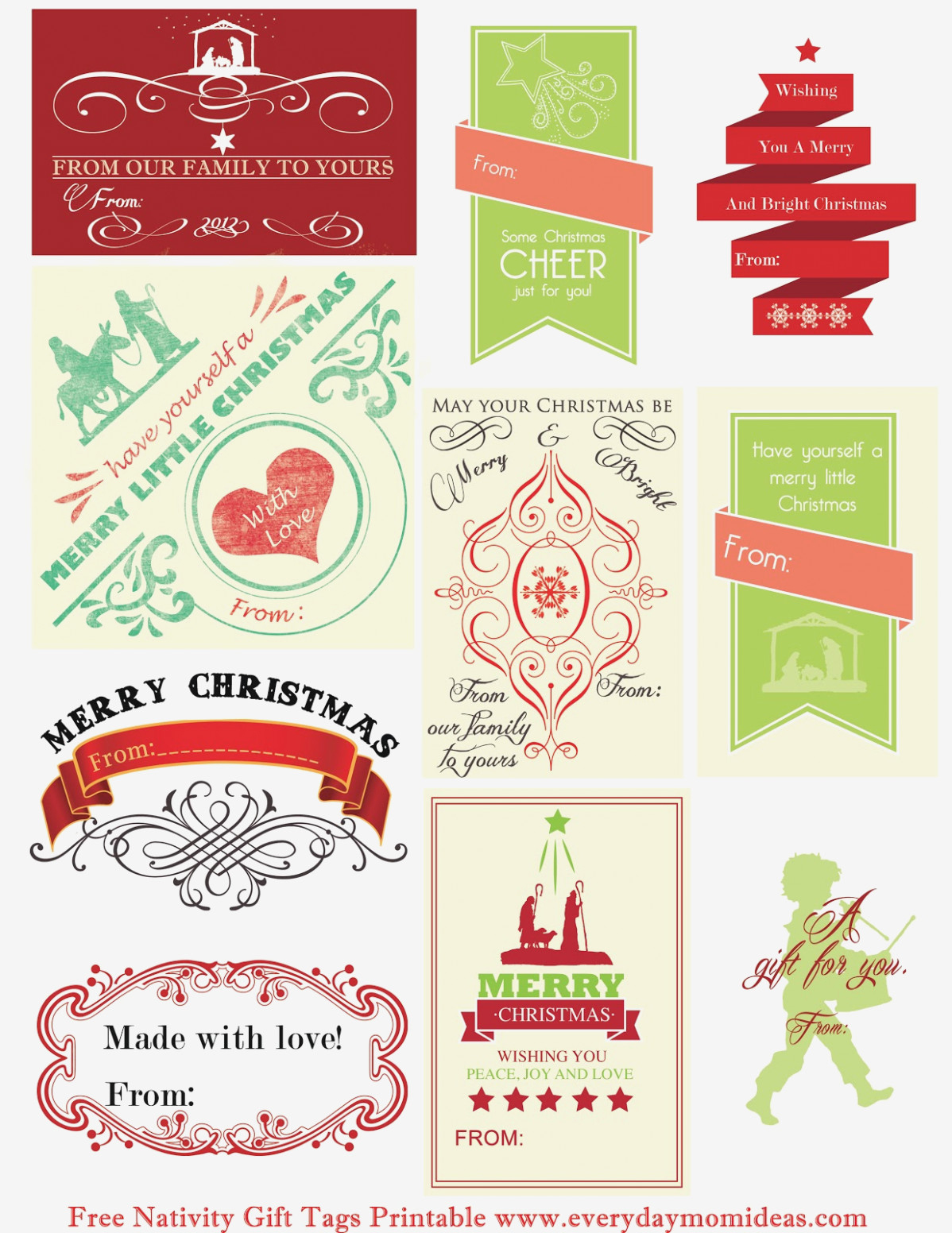 Free Personalized Christmas Gift Tags – Fun For Christmas - Free Printable Customizable Gift Tags
