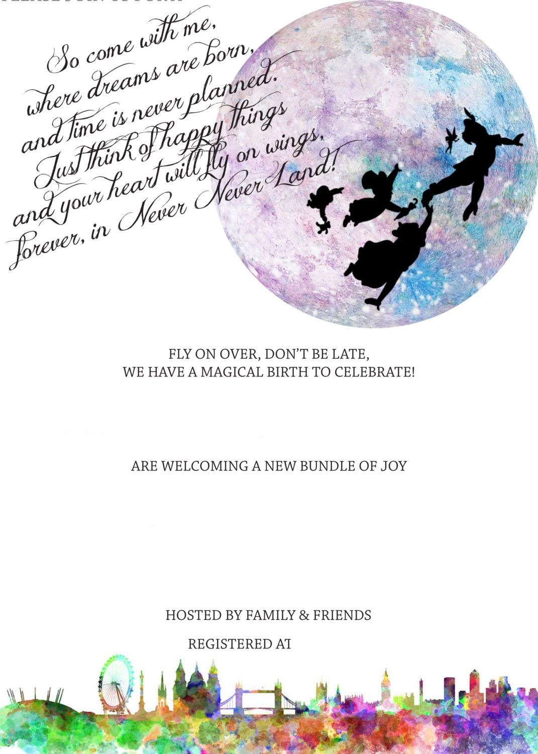 Free Peterpan In Neverland Baby Shower | Free Printable Birthday - Free Printable Tinkerbell Baby Shower Invitations