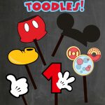 Free Photo Props Mickey Mouse Printable & Templates | Catering   Free Printable Mickey Mouse Decorations