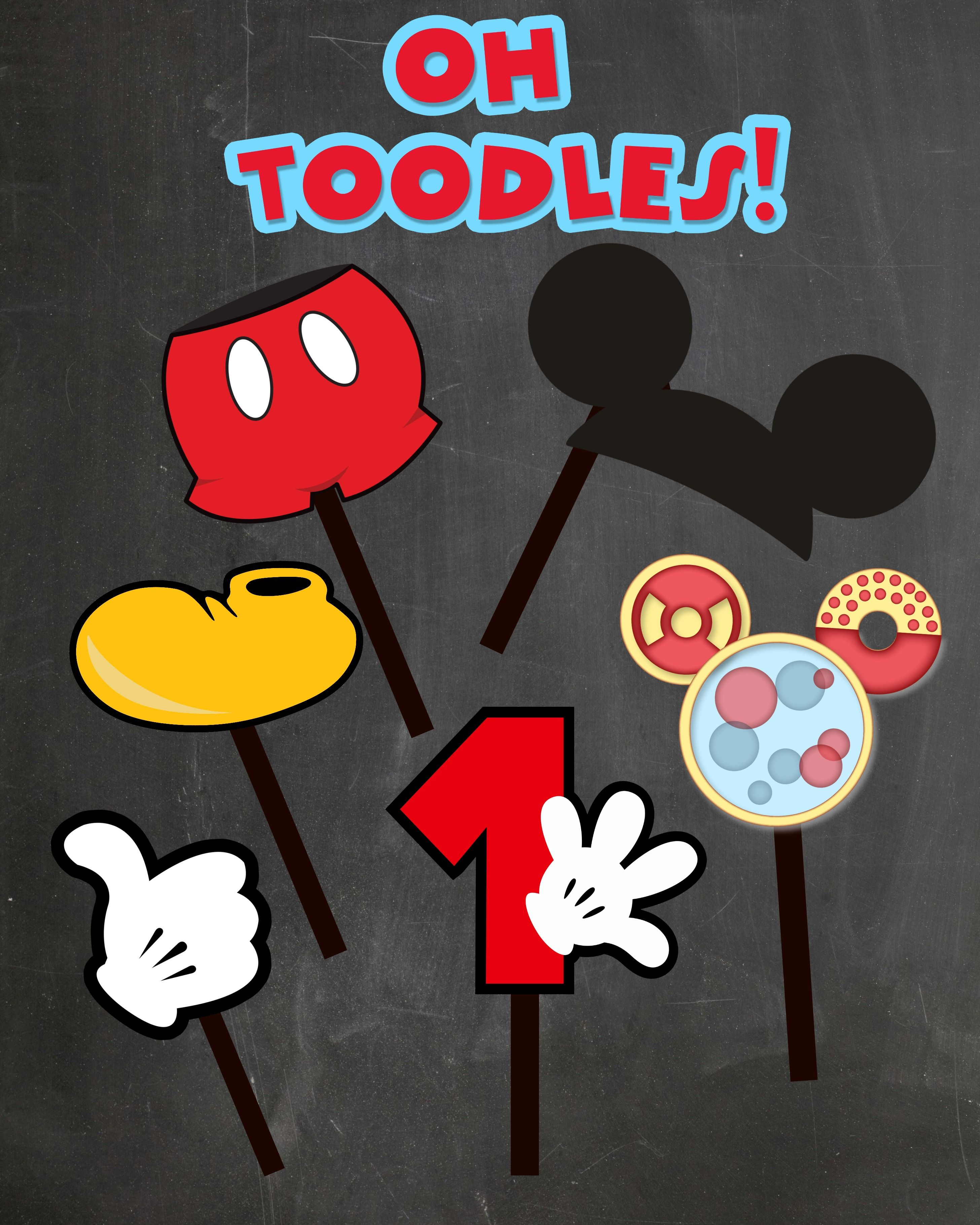 Free Photo Props Mickey Mouse Printable & Templates | Catering - Free Printable Mickey Mouse Decorations