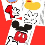 Free Photo Props Mickey Mouse Printable & Templates | Photo Booth   Free Printable Mickey Mouse Decorations