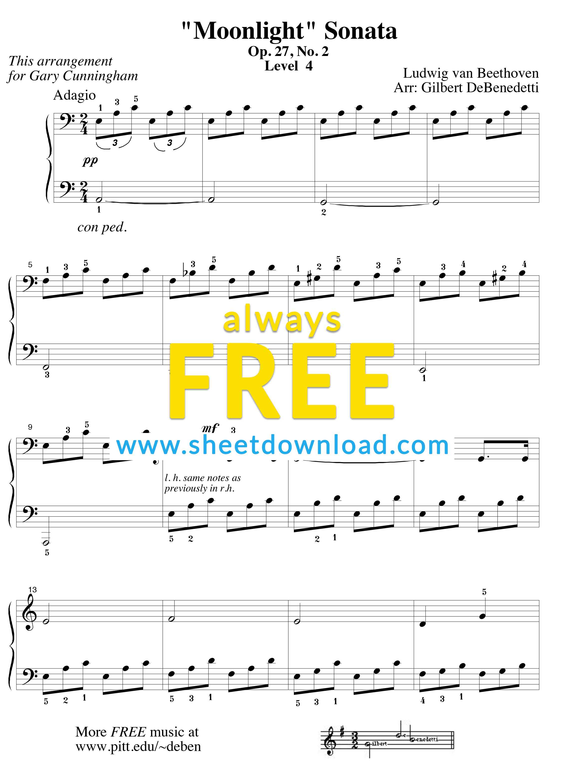 Free Piano Sheet Music To Download And Print - High Quality Pdfs - Free Printable Classical Sheet Music For Piano