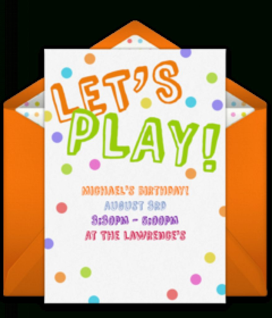 Free Playdate Online Invitations | Punchbowl Intended For Free - Play Date Invitations Free Printable