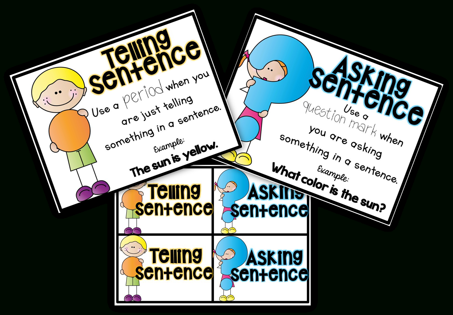 Free Posters And Sorting Cards For Telling And Asking Sentences - Punctuation Posters Printable Free