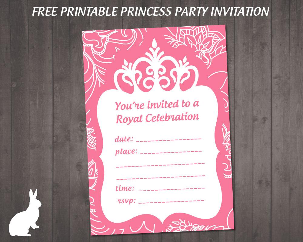 Free Princess Party Invitation   Free Party Invitationsruby And - Free Printable Princess Invitations