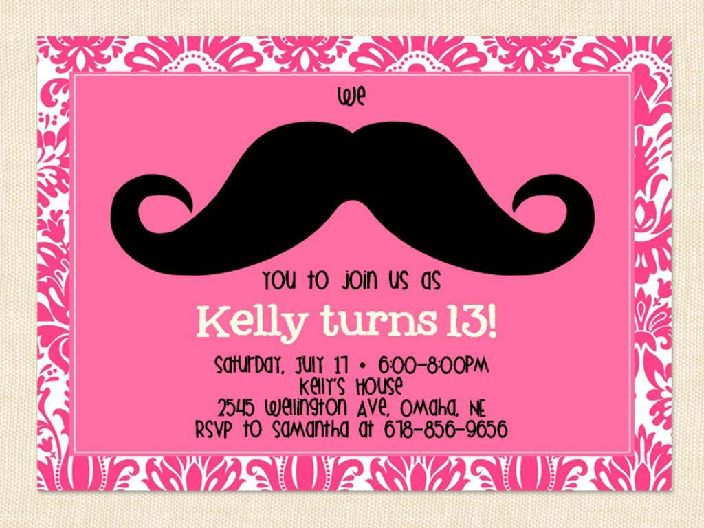 Free Printable 13Th Birthday Party Invitations For Girls. Oh Yes - 13Th Birthday Party Invitations Printable Free