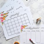Free Printable 2017 Monthly Calendar And Weekly Planner   Free Printable Organizer 2017