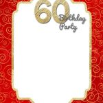 Free Printable 60Th Birthday Invitation | Como Deco | Birthday   Free Printable Surprise 60Th Birthday Invitations