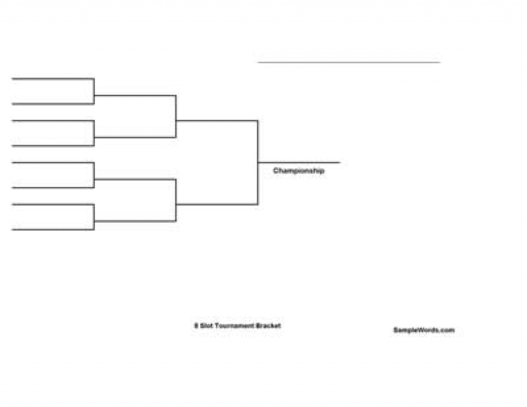 Free Printable 8 Team Single Elimination Tournament Bracket Within - Free Printable Brackets