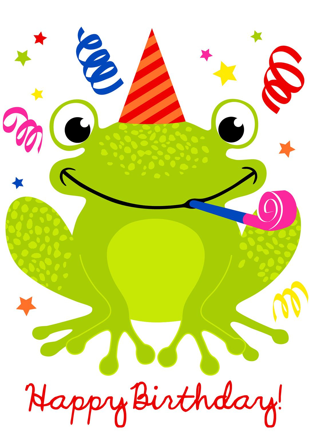 Free Printable A Happy Hopping Birthday Greeting Card #birthday - Birthday Clipart Free Printable