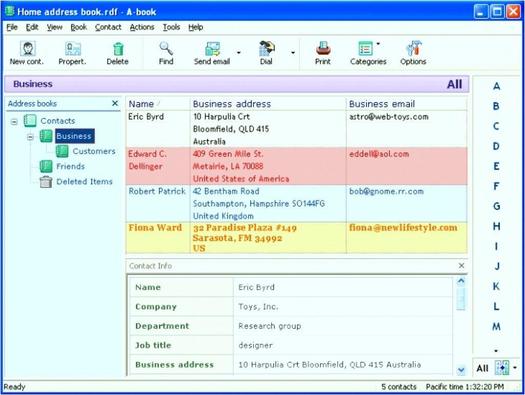Free Printable Address Book Software Address Book Software With - Free Printable Address Book Software