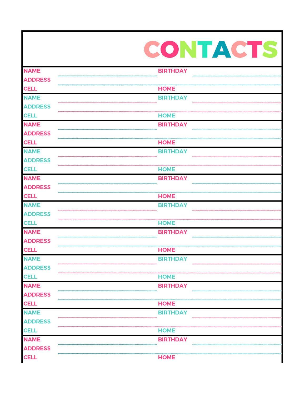 Free Printable Address Book Software Blank Pages Template Excel - Free Printable Address Book Pages