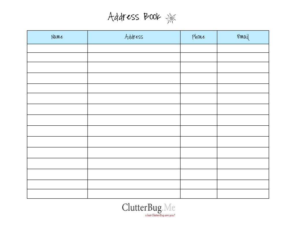 Free Printable Address Book Software With Pages Template Plus - Free Printable Address Book Pages