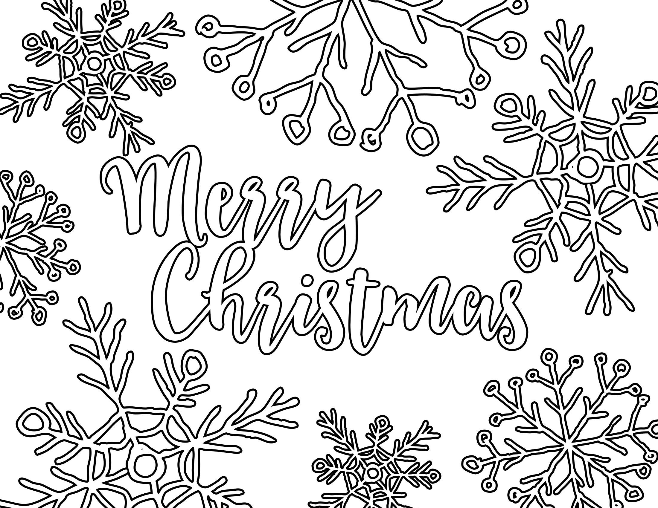 Free Printable Adult Coloring Page - Christmas Placemat - Our - Free Printable Christmas Placemats For Adults