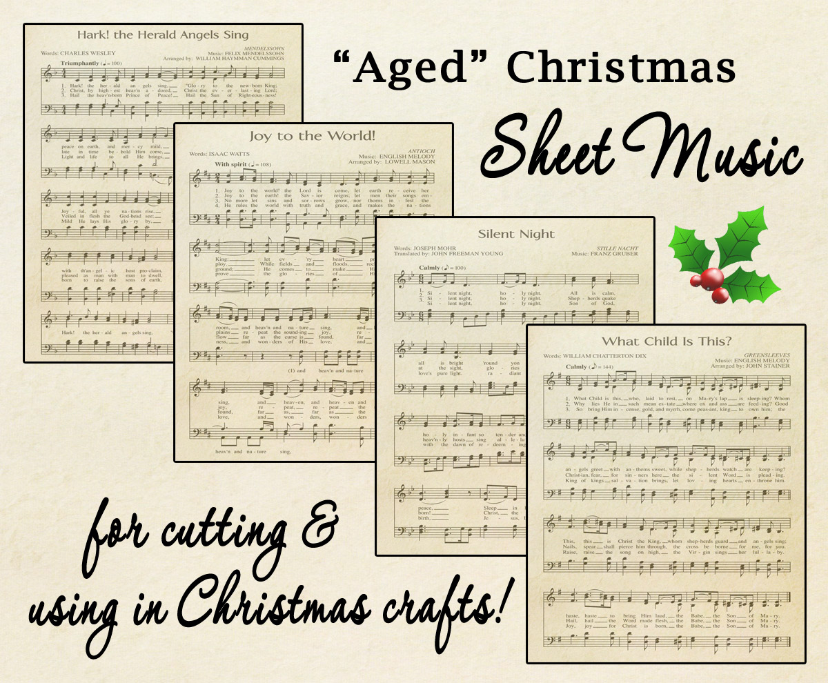"Free Printable ""Aged"" Music Sheets 