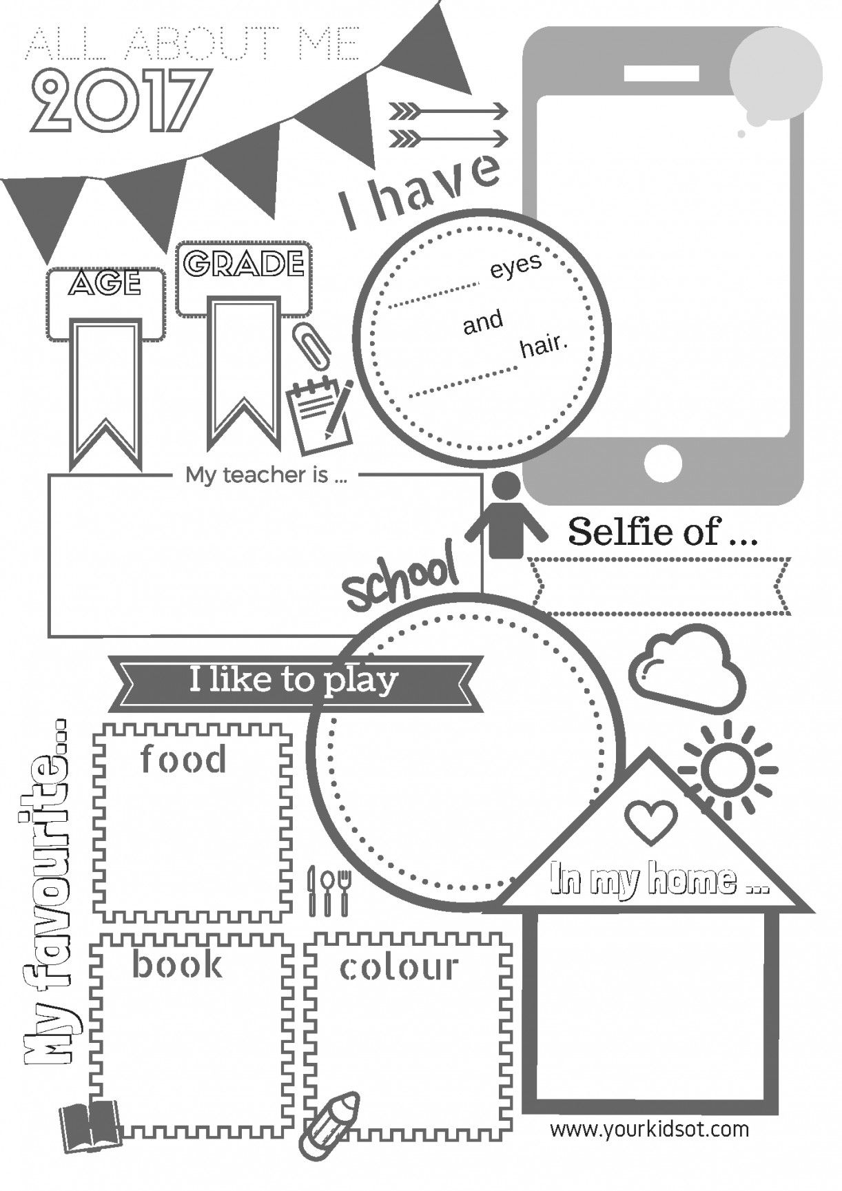 Free Printable All About Me Worksheet | Lostranquillos - Free Printable All About Me Worksheet