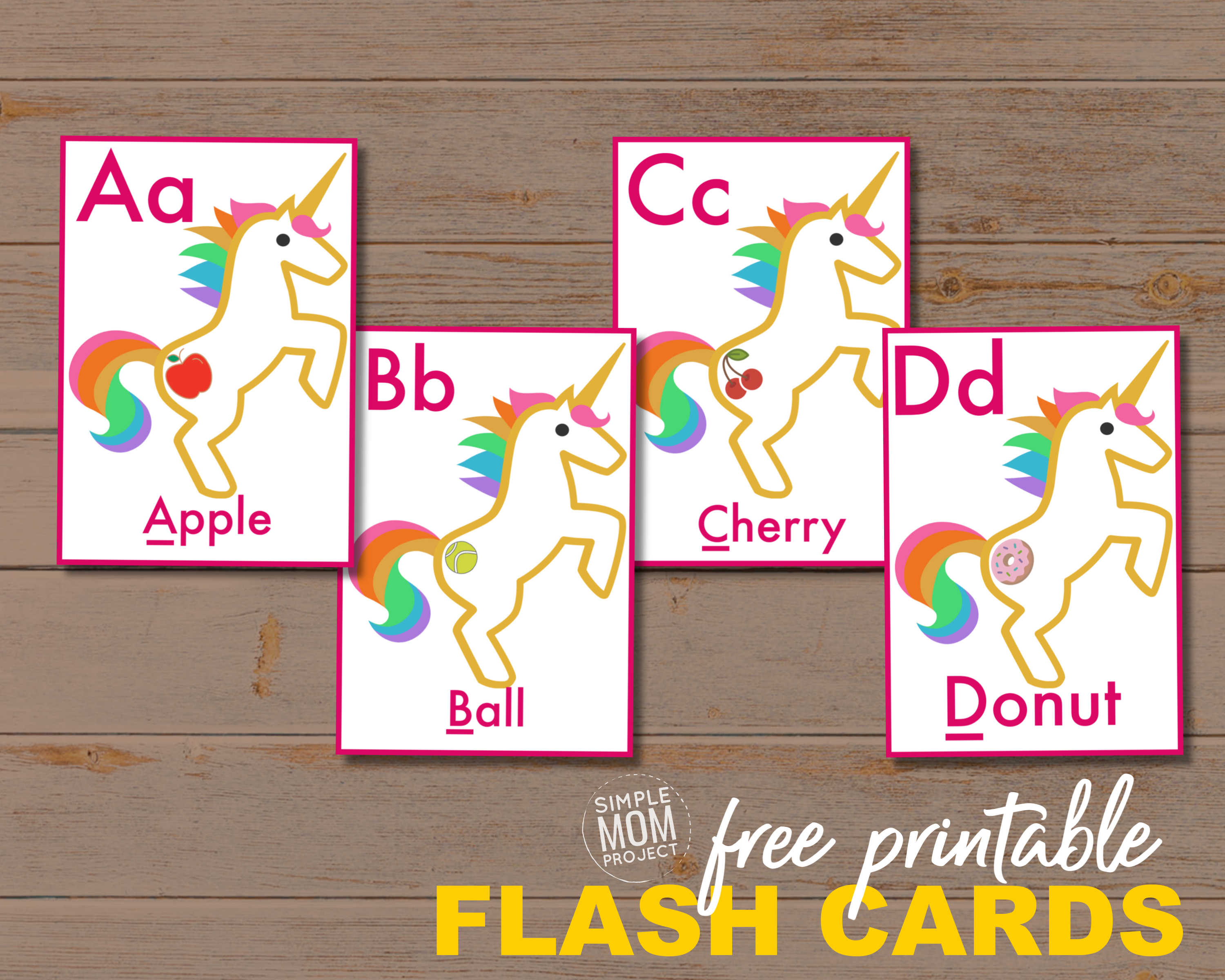 Free Printable Alphabet Flashcards For Toddlers - Simple Mom Project - Free Printable Flashcards For Toddlers