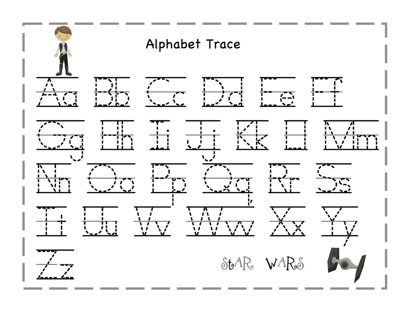 Free Printable Alphabet Letter Tracing Worksheets | Angeline - Free Printable Alphabet Tracing Worksheets