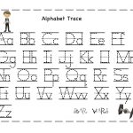 Free Printable Alphabet Letter Tracing Worksheets | Angeline   Free Printable Tracing Alphabet Worksheets