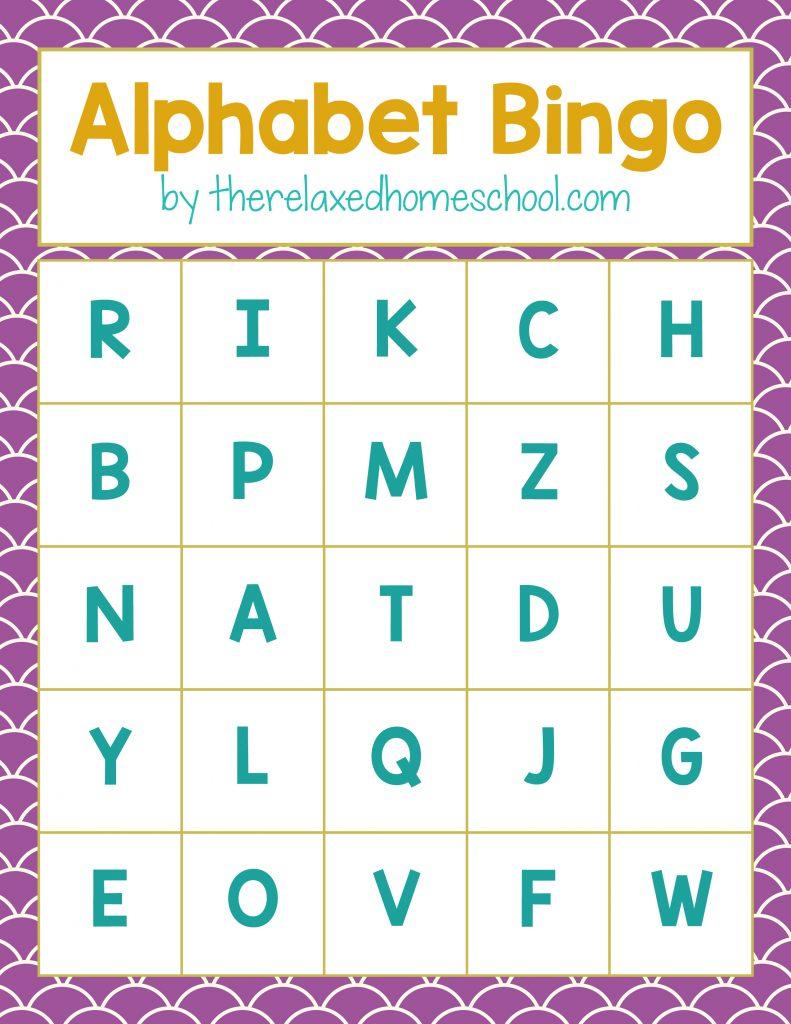 Free Printable! Alphabet Letters Bingo Game - Download Here! - Free Printable Alphabet Letters