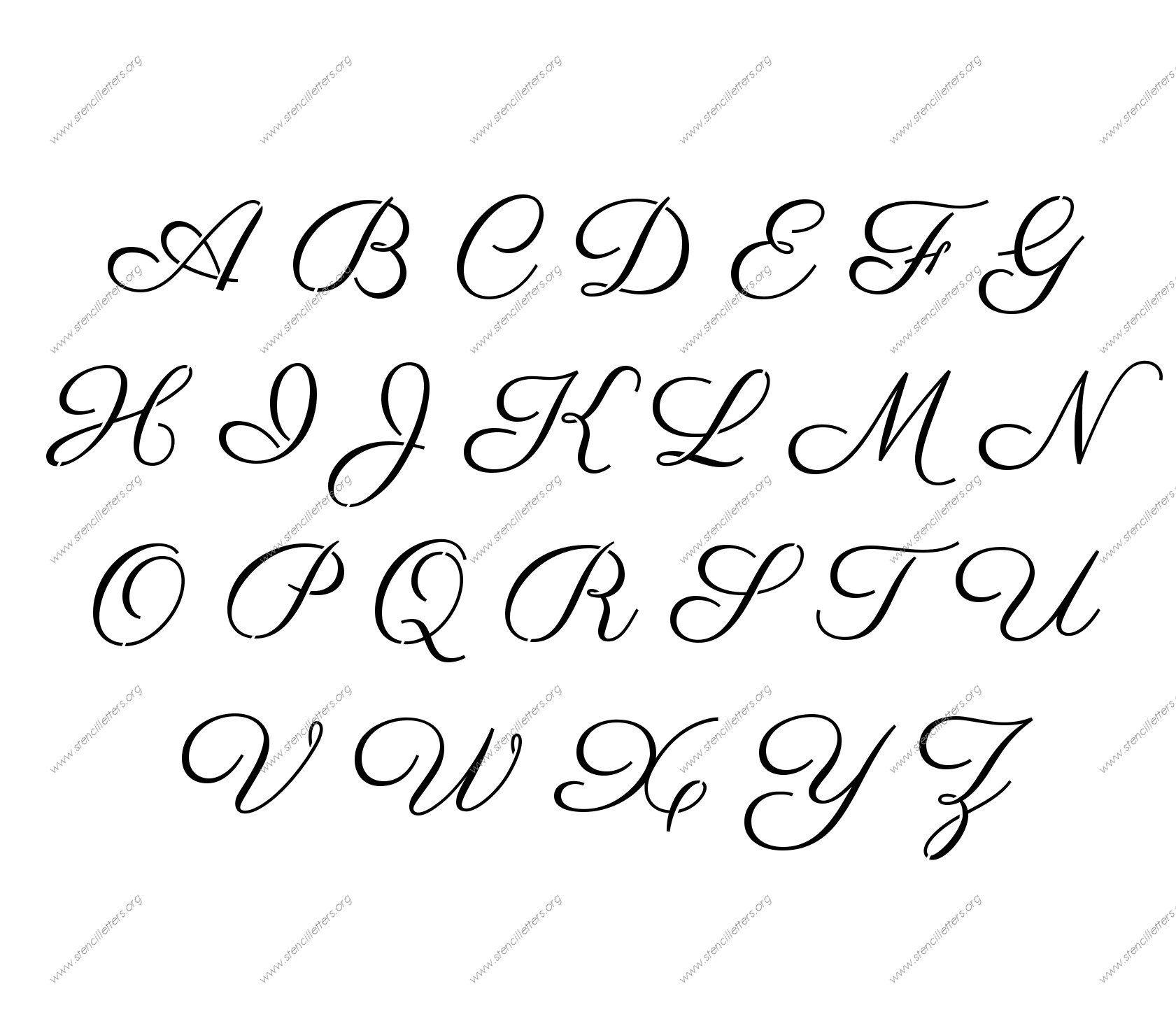 Free Printable Alphabet Stencil Letters Template   Art & Crafts - Free Printable Alphabet Templates