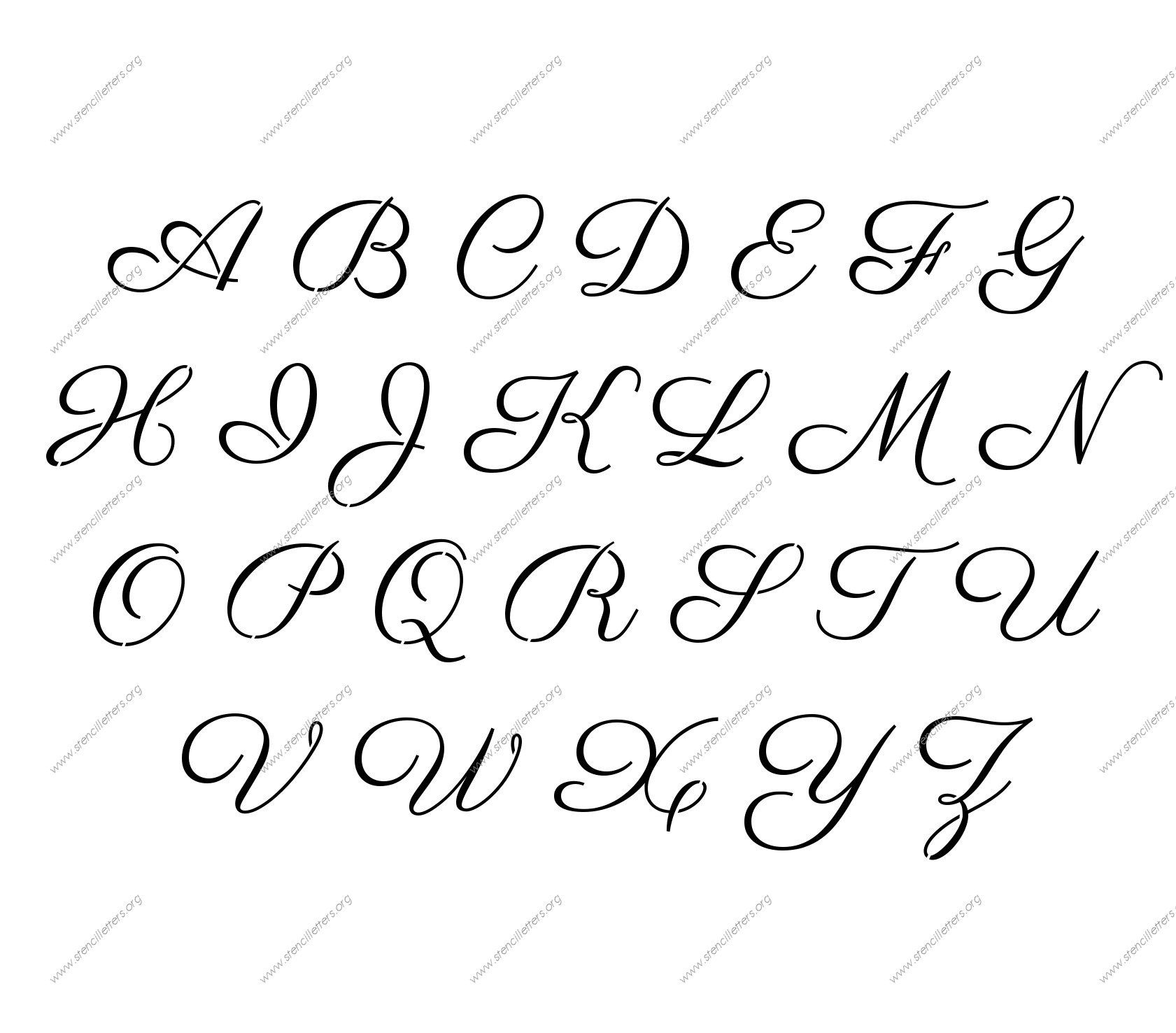 Free Printable Alphabet Stencil Letters Template | Art & Crafts - Free Printable Letter Stencils