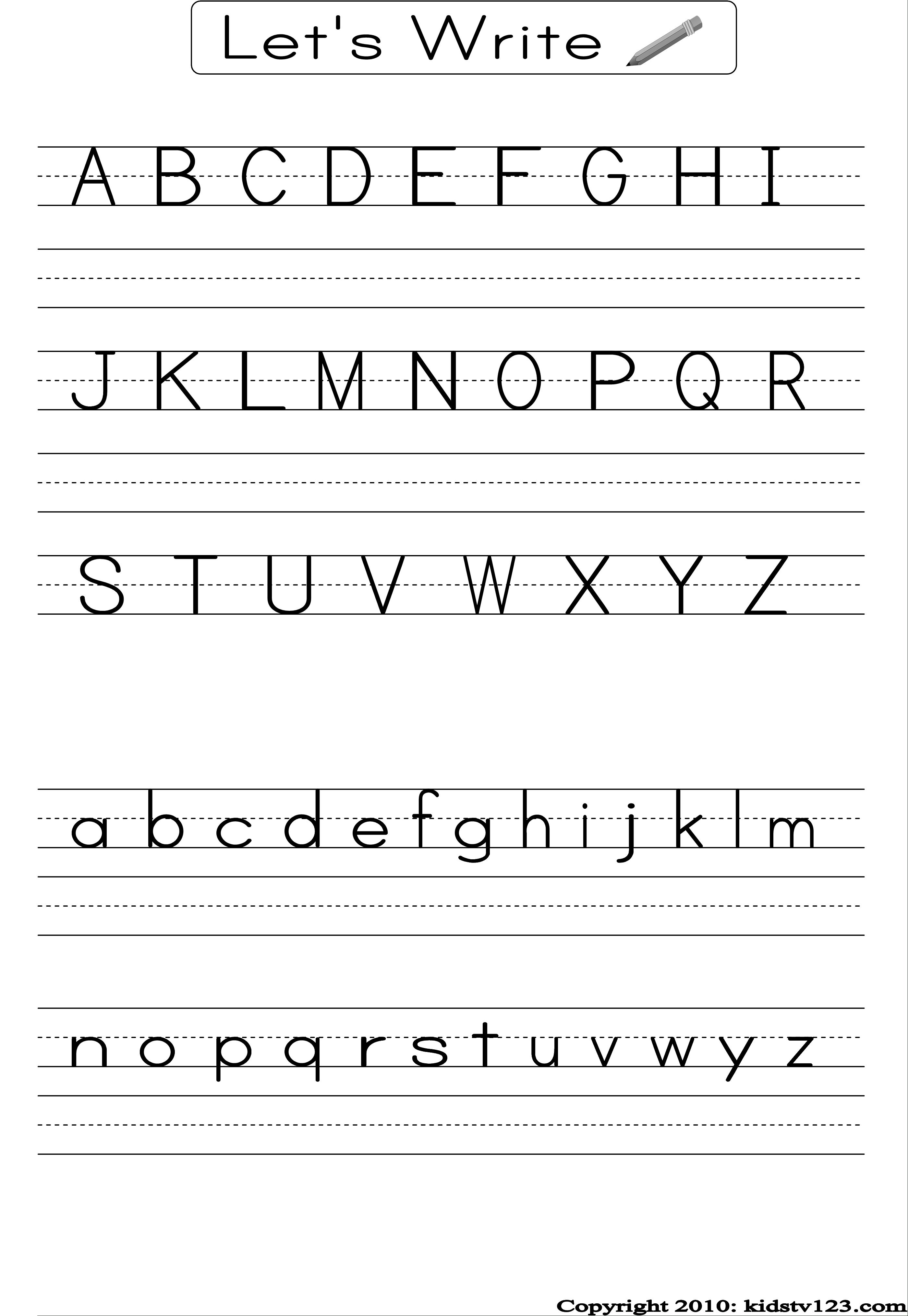 Free Printable Alphabet Worksheets, Preschool Writing And Pattern - Preschool Writing Worksheets Free Printable