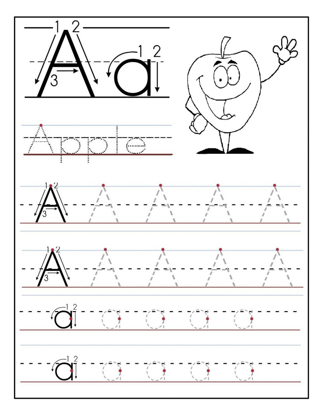 Free Printable Alphabet Worksheets – With Handwriting Exercises Also - Free Printable Letter Writing Worksheets