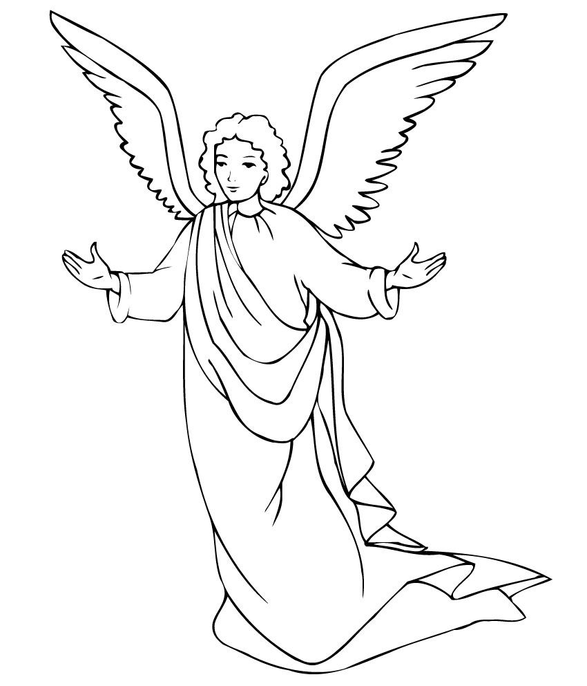 Free Printable Angel Coloring Pages For Kids   Éducation Chrétienne - Free Printable Angels
