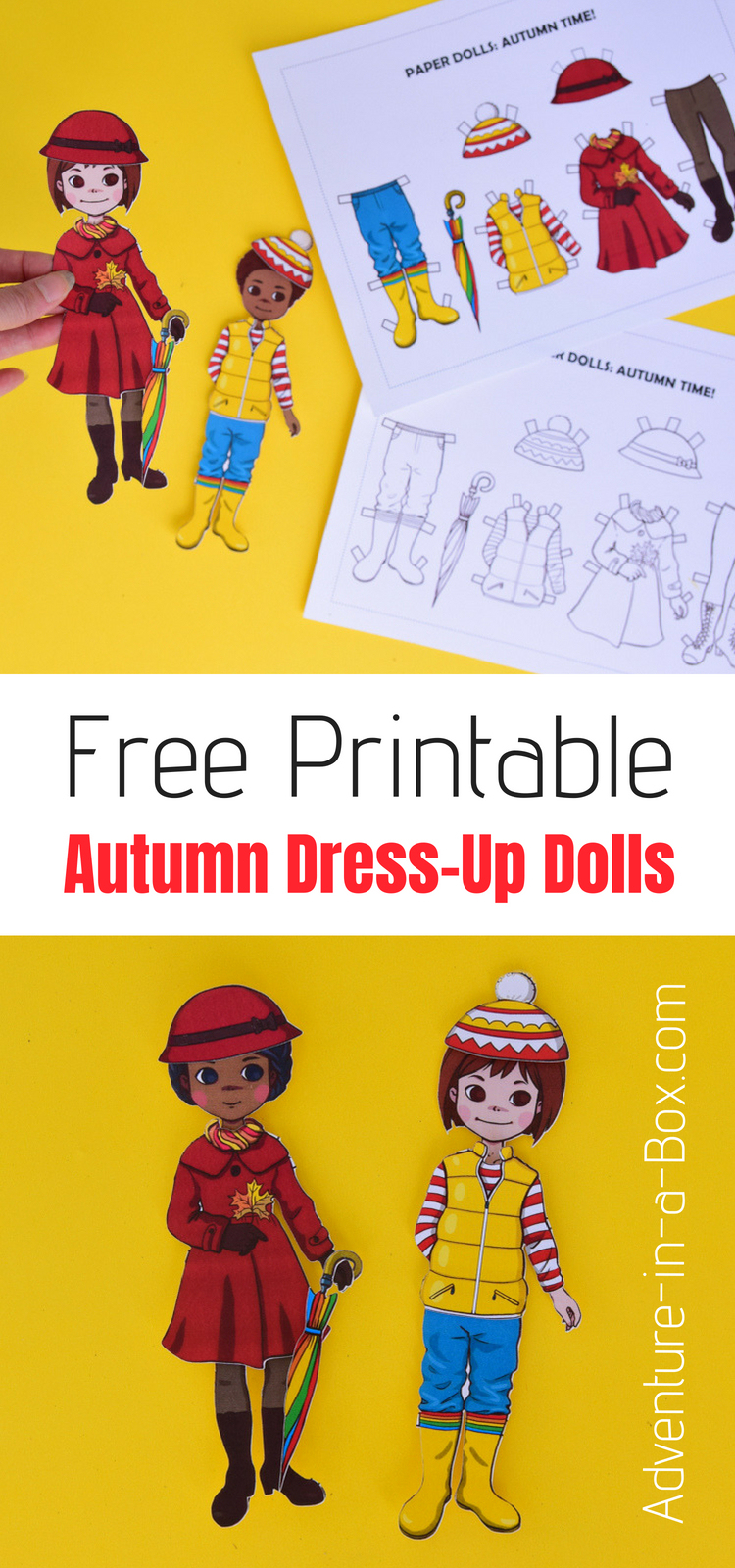 Free Printable Autumn Dress-Up Paper Doll | Adventure In A Box - Free Printable Dress Up Paper Dolls
