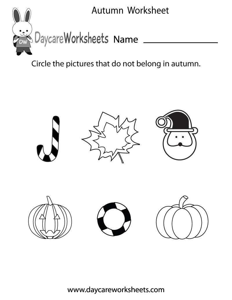 Free Printable Autumn Worksheet For Preschool - Free Printable Autumn Worksheets