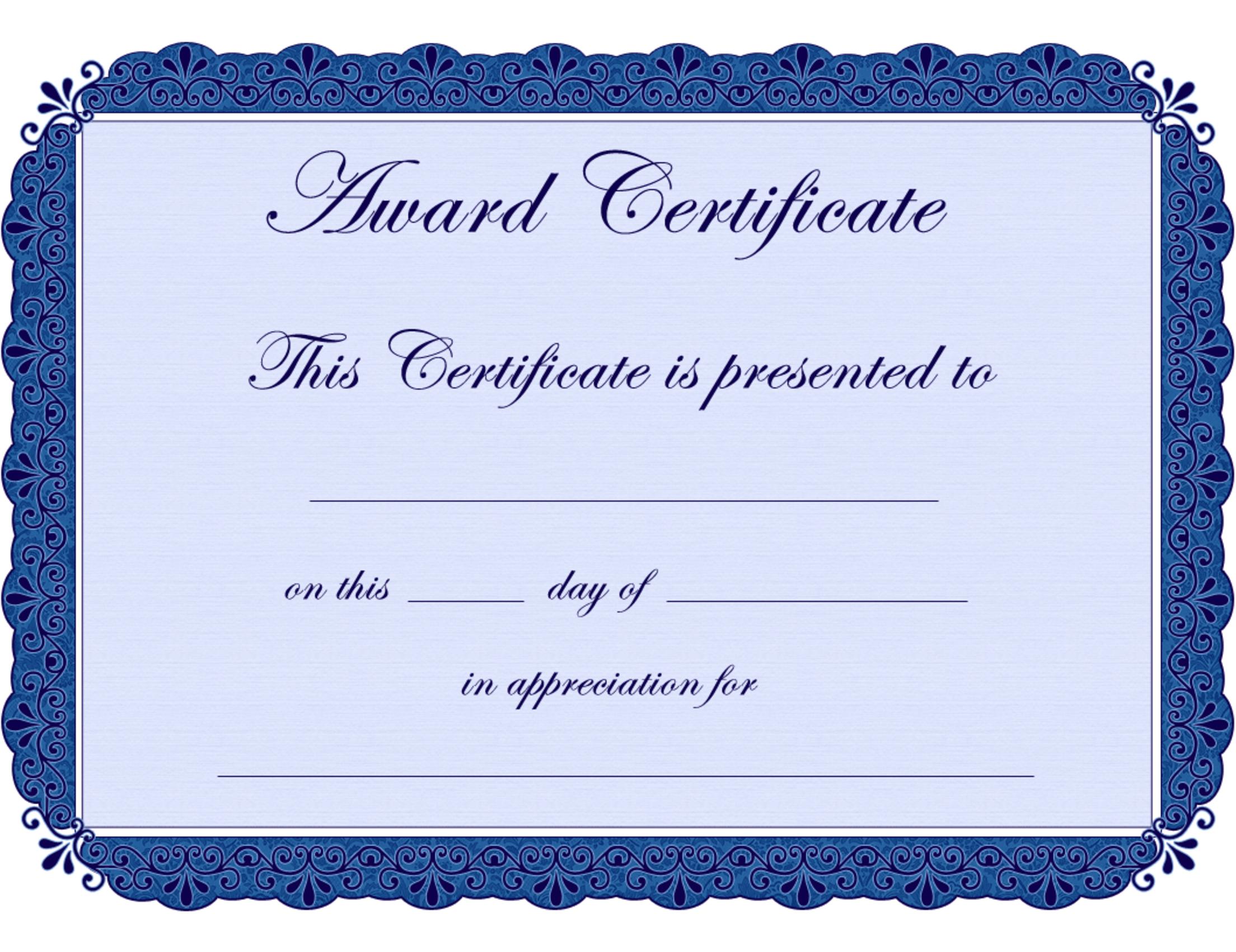 Free Printable Award Certificate Borders |  Award Certificate - Grandparents Certificate Free Printable