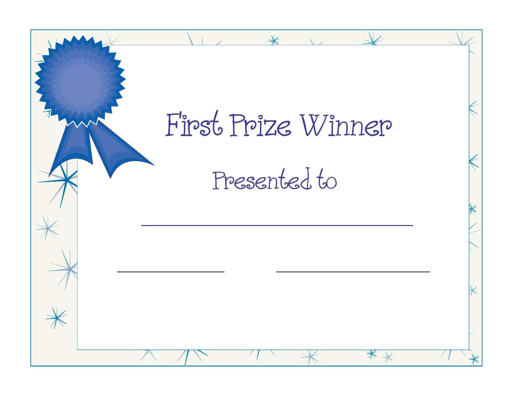 Free Printable Award Certificate Template | Free Printable First - Free Printable Awards