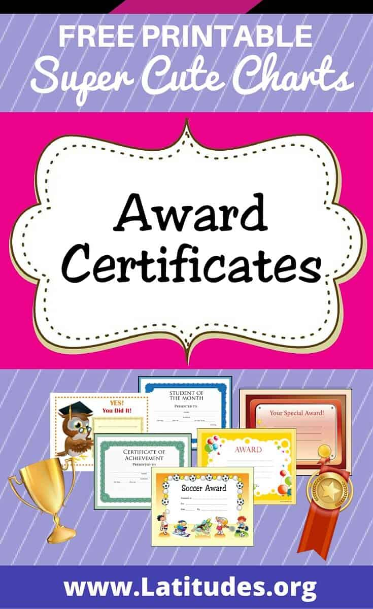 Free Printable Award Certificates For Kids | Acn Latitudes - Good Behaviour Certificates Free Printable