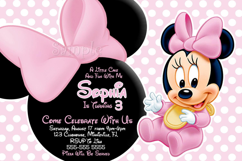 Free Printable Baby Minnie Mouse Invitations 36 Inch Shower - Free Printable Minnie Mouse Baby Shower Invitations