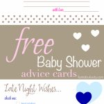 Free Printable Baby Shower Advice & Best Wishes Cards – Fantabulosity – Free Printable Baby Advice Cards