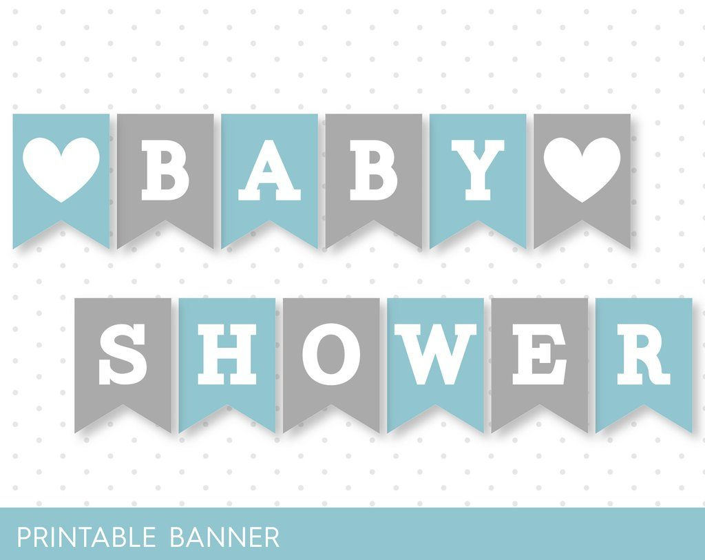 Free Printable Baby Shower Banner Letters | Free Printable - Free Printable Baby Shower Banner Letters