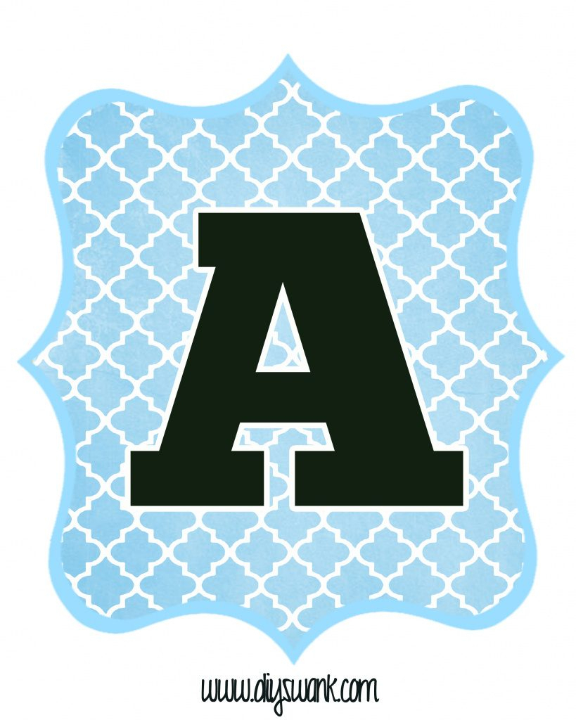 Free Printable Baby Shower Banner Letters | Free Printable - Free Printable Whole Alphabet Banner