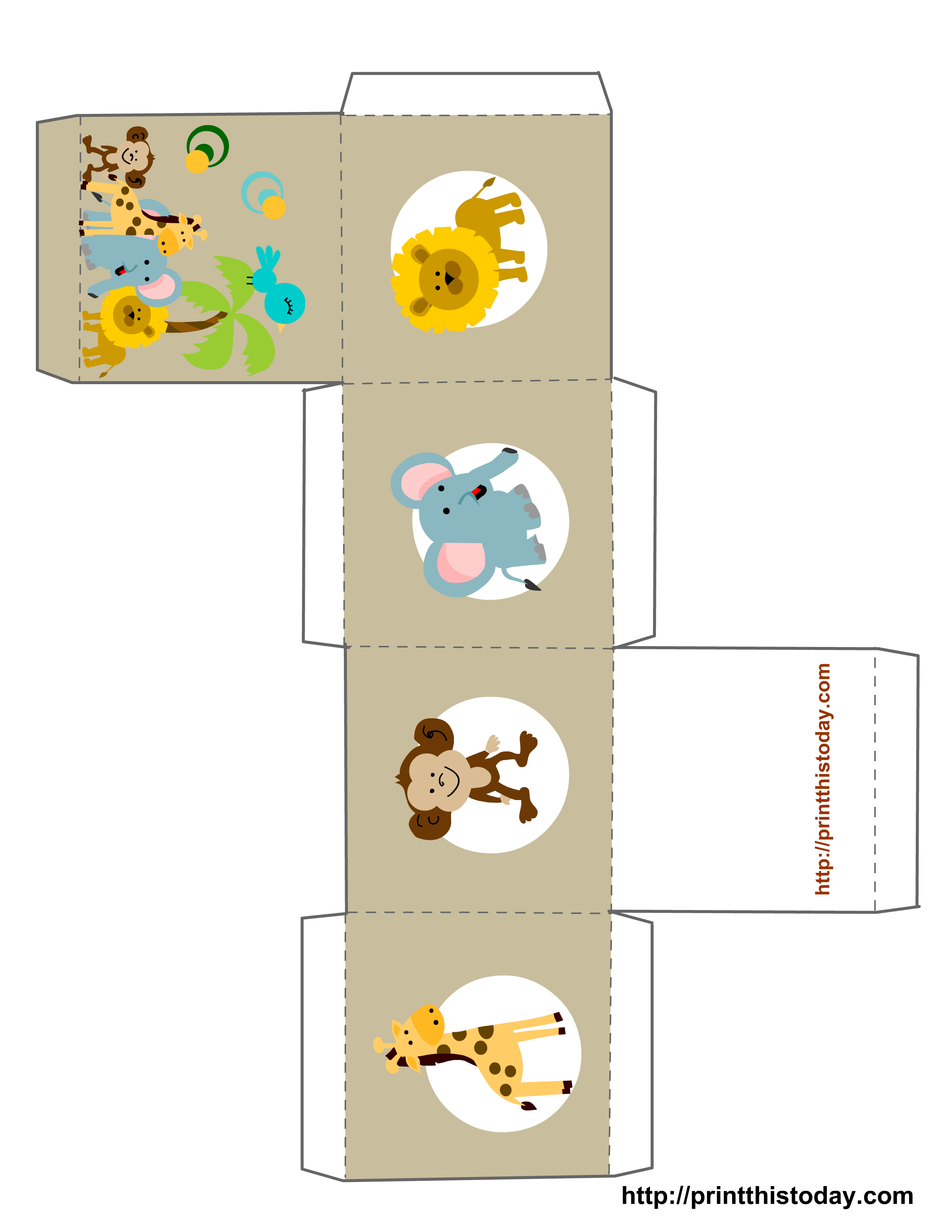 Free Printable Baby Shower Favor Boxes (Templates) - Box Templates Free Printable