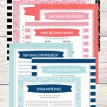 Free Printable Baby Shower Games   5 Games (In 3 Colors!)   Lil' Luna   Baby Name Race Free Printable