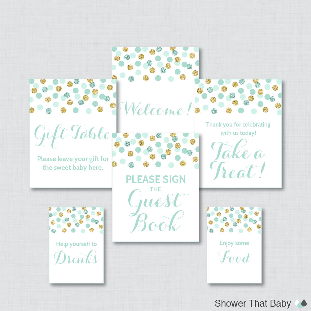 Free Printable Baby Shower Gift Table Sign - Baby Shower Ideas - Free Printable Baby Shower Table Signs