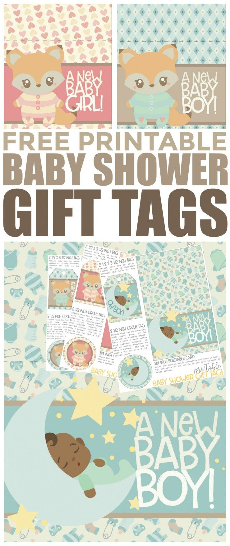 Free Printable Baby Shower Gift Tags | Free Printables | Pinterest - Free Printable Baby Shower Gift Tags