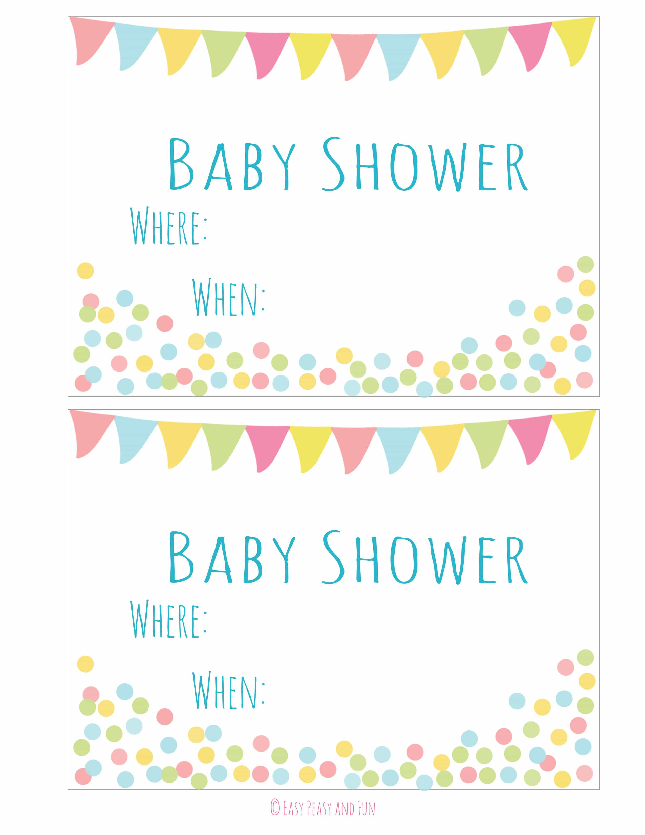 Free Printable Baby Shower Invitation - Easy Peasy And Fun - Free Printable Baby Shower Invitations