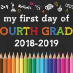 Free Printable Back To School Chalkboard Signs /// 2018 2019   The   First Day Of Fourth Grade Free Printable