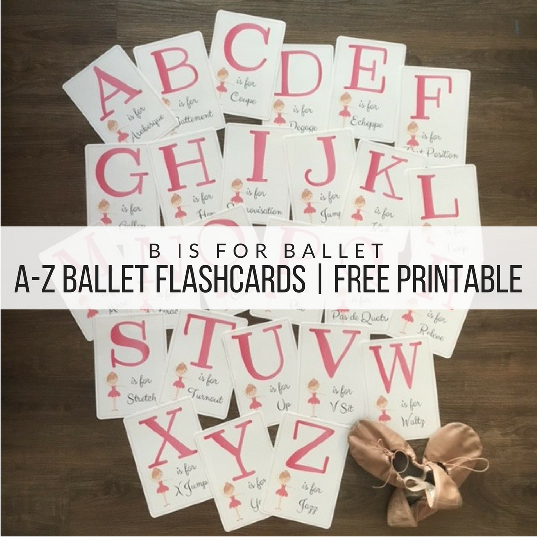 Free Printable! Ballet Flash Cards! | Dance Teacher | Pinterest - Free Printable Dance Recital Cards