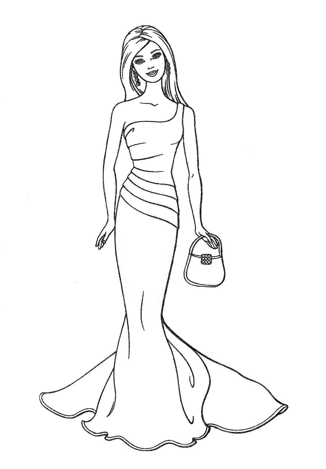 Free Printable Barbie Coloring Pages, Activity Sheets, Paper Crafts - Free Printable Barbie Coloring Pages