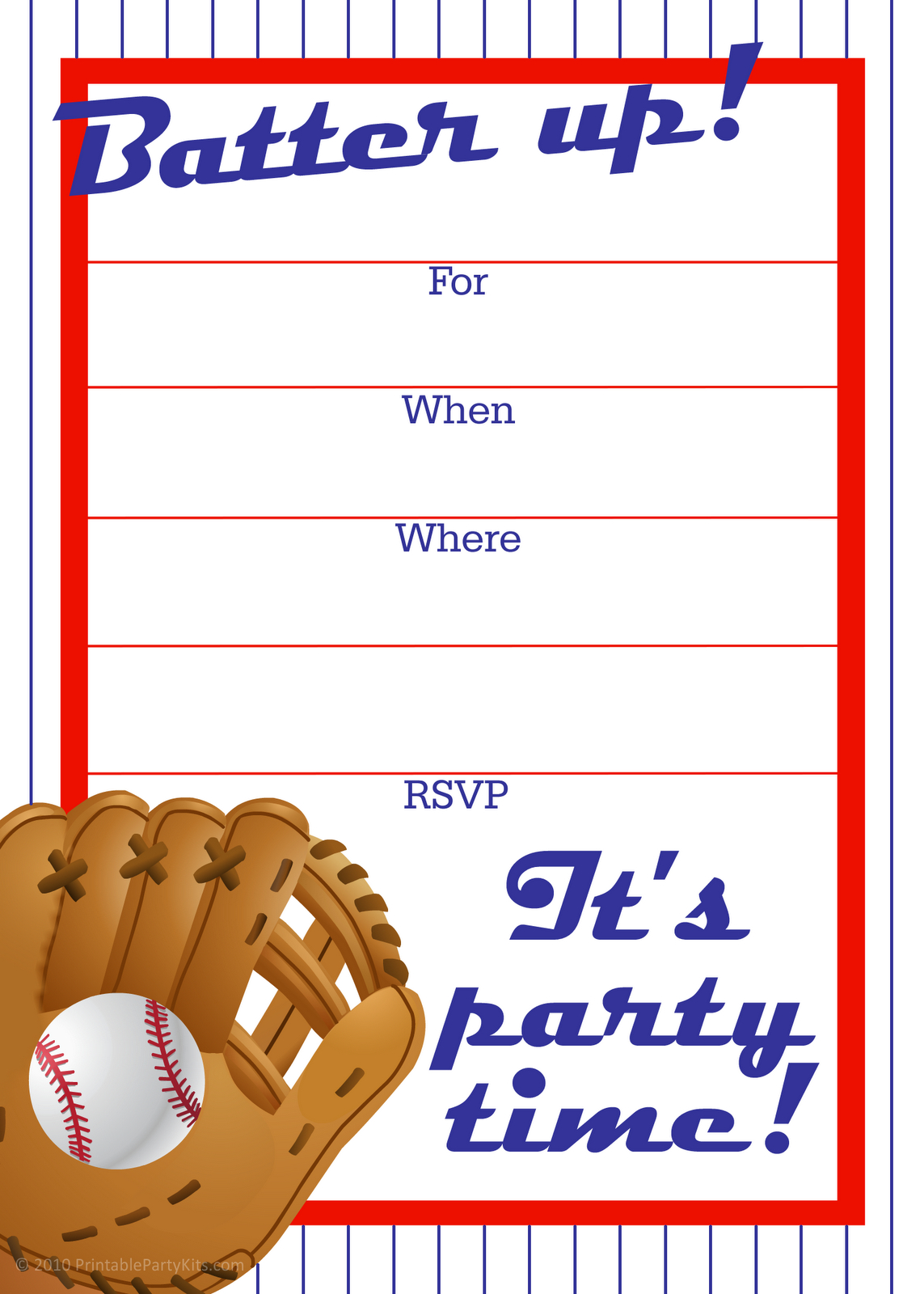 Free Printable Baseball Party Invitation | Party Printables - Free Printable Baseball Stationery
