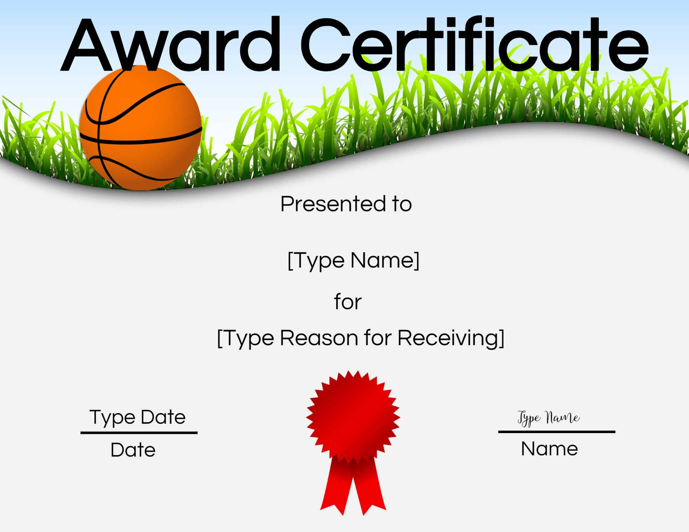 Free Printable Basketball Certificates   Customize Online - Basketball Participation Certificate Free Printable
